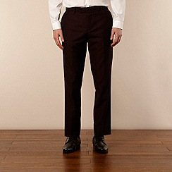 Red Herring Red Line - Wine lapel suit trousers