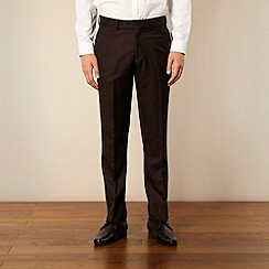 Red Herring Red Line - Wine tonic suit trousers