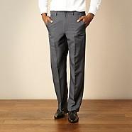 Farah - Light blue extending waist trousers