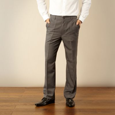 Big and tall dark grey essential formal trousers