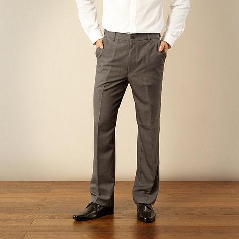 Farah - Big and tall dark grey essential formal trousers