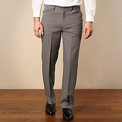 Farah - Big and tall grey smart regular fit trousers
