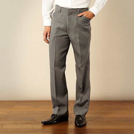 Farah - Grey frog mouth formal trousers