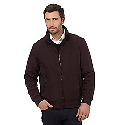 The Collection - Big and tall dark red bomber jacket
