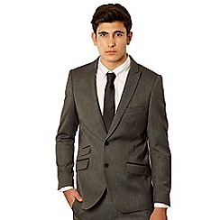 Red Herring Red Line - Grey herringbone tailored suit jacket