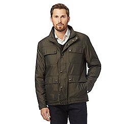 The Collection - Big and tall green 'cruiser' quilted coat