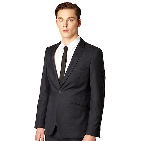 Red Herring Red Line - Navy wool blend tailored suit jacket