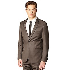 Red Herring Red Line - Brown textured tailored suit