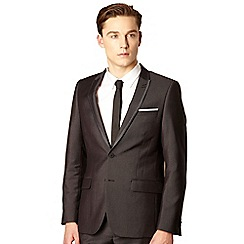 Red Herring Red Line - Big and tall black pinstriped tailored suit jacket
