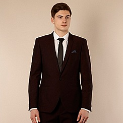 Red Herring Red Line - Wine lapel suit jacket