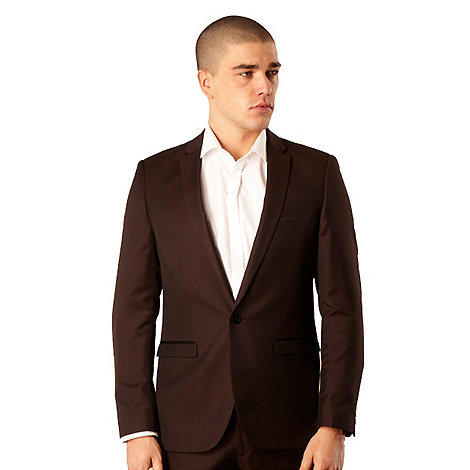 Red Herring Red Line - Wine tonic suit jacket
