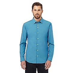 The Collection - Big and tall turquoise tonic tailored fit shirt