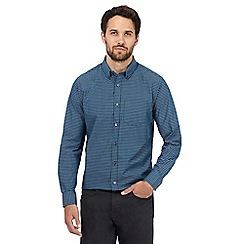The Collection - Big and tall blue gingham regular fit shirt