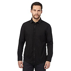 The Collection - Black studded yoke tailored fit shirt