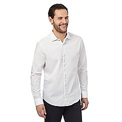 The Collection - White studded yoke tailored fit shirt