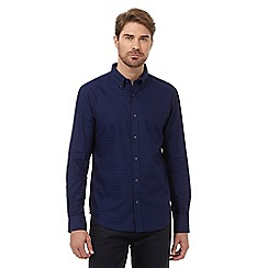 The Collection - Blue diamond patterned tailored fit shirt