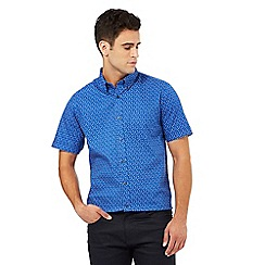 The Collection - Big and tall bright blue printed shirt