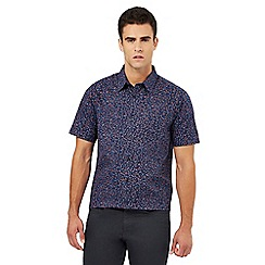 The Collection - Big and tall navy rose print regular fit shirt