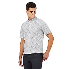 The Collection - Big and tall white illusion print regular fit shirt