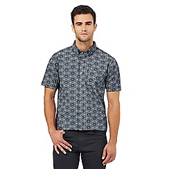 The Collection - Big and tall navy floral wreath print regular fit shirt