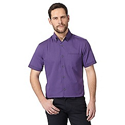 The Collection - Big and tall purple donny checked tailored fit shirt