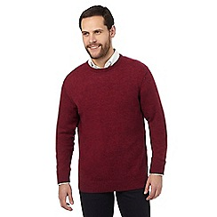 The Collection - Big and tall pink ribbed trim lambswool blend jumper