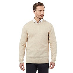 The Collection - Big and tall cream lambswool blend jumper