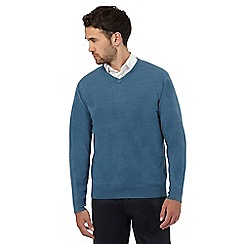 The Collection - Turquoise V-neck jumper