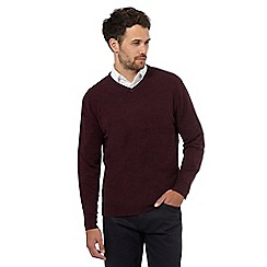 The Collection - Dark purple V-neck jumper