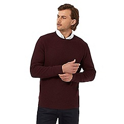 The Collection - Dark red tuck stitch textured jumper