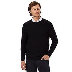 The Collection - Black tuck stitch jumper