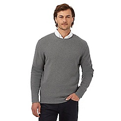The Collection - Grey tuck stitch textured jumper