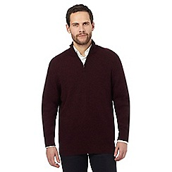 The Collection - Dark red lambswool blend sweater