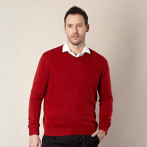 Thomas Nash - Red v-neck jumper