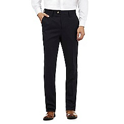 The Collection - Big and tall navy twill trousers