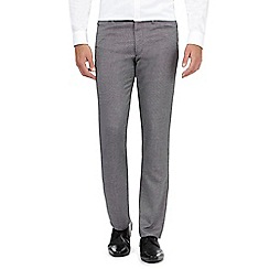 The Collection - Grey crosshatch regular trousers