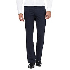 The Collection - Blue puppytooth tailored trousers