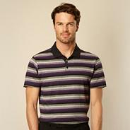Big and tall purple fine striped polo shirt