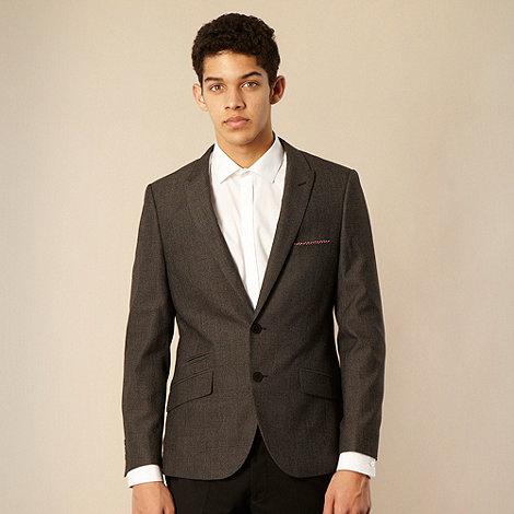 Thomas Nash - Dark grey checked tailored suit jacket