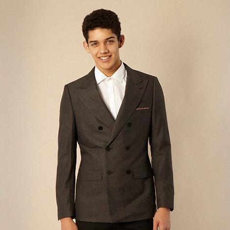 Thomas Nash - Dark grey checked Tailored fit six button blazer