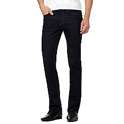 The Collection - Big and tall dark blue rinse straight leg jeans