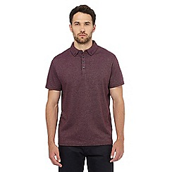 The Collection - Dark red textured polo shirt