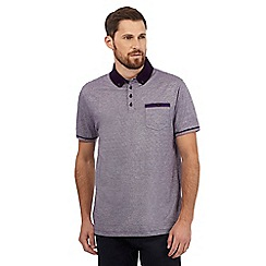 The Collection - Big and tall purple fine striped print polo shirt