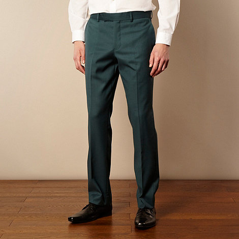 Thomas Nash - Turquoise tailored suit trousers
