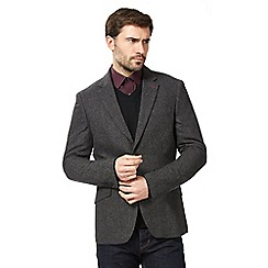 The Collection - Big and tall grey wool blend textured jacket