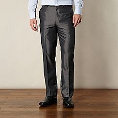 Thomas Nash - Big and tall grey sheen effect formal trousers