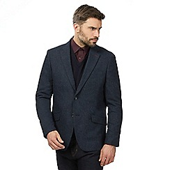 The Collection - Navy textured blazer with wool