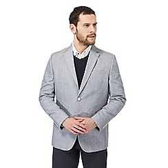 The Collection - Big and tall grey linen blend blazer jacket