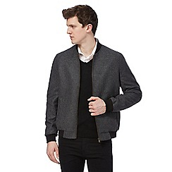 The Collection - Big and tall Grey wool blend baseball jacket