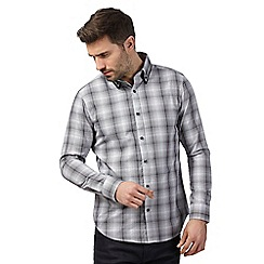 The Collection - Black and white puppy tooth checked tailored shirt